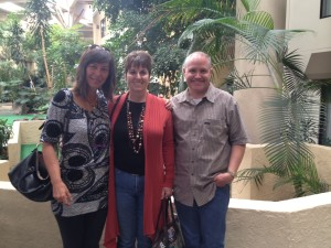 Anna Edmondson, Doug Silva, Suzanne Bourgault at the Crowne Plaza in Concord Getting Ready for the Website Workshop