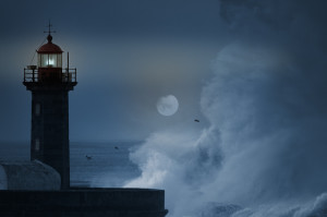 Choppy-Sea-with-Moon-and-Lighthouse