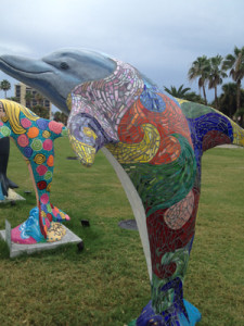 dolphin sculptures in florida