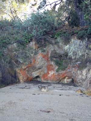 rock formation on beach Inverness