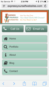Express Yourself Websites Mobile